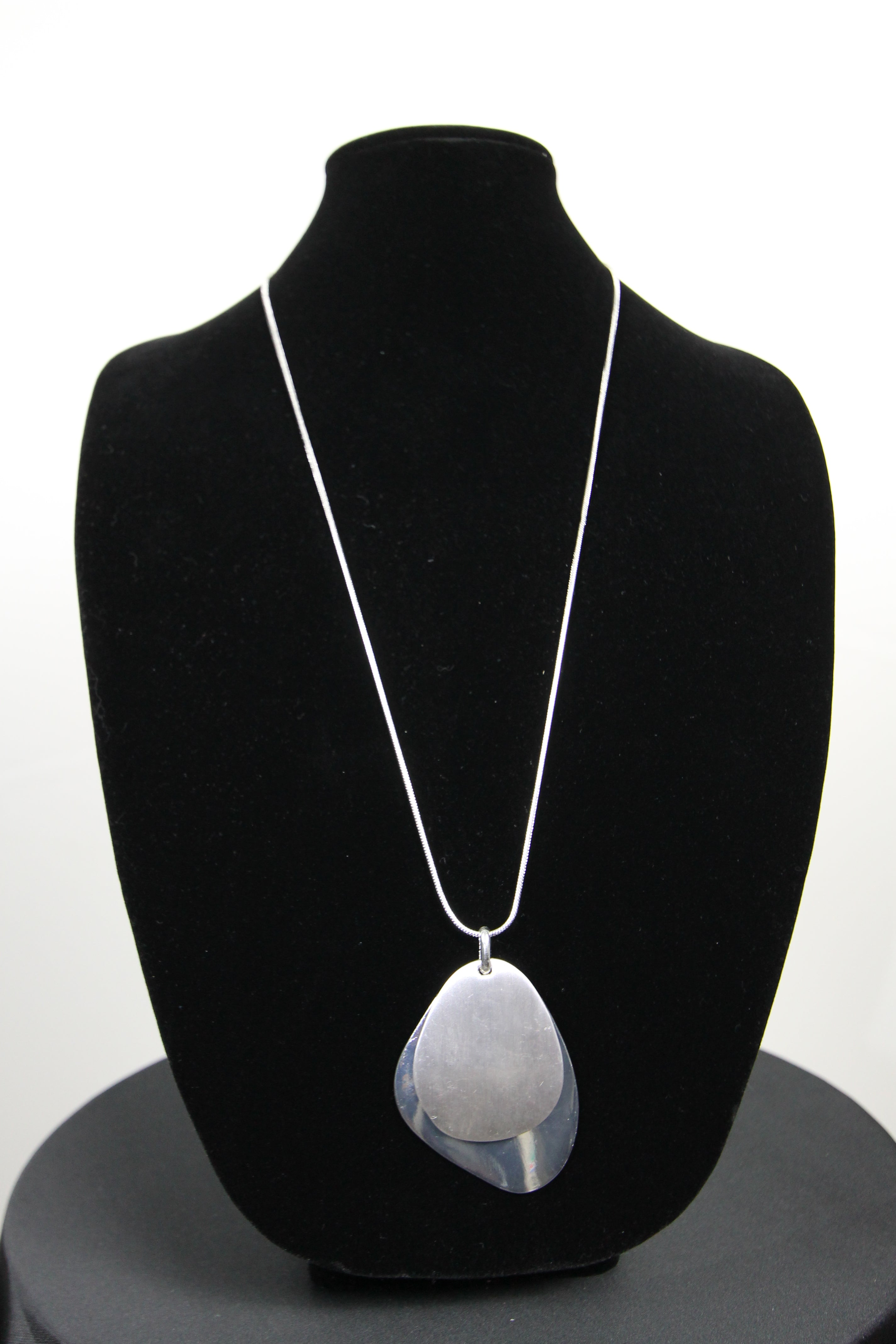 Brushed and Shiny Silver Pendent