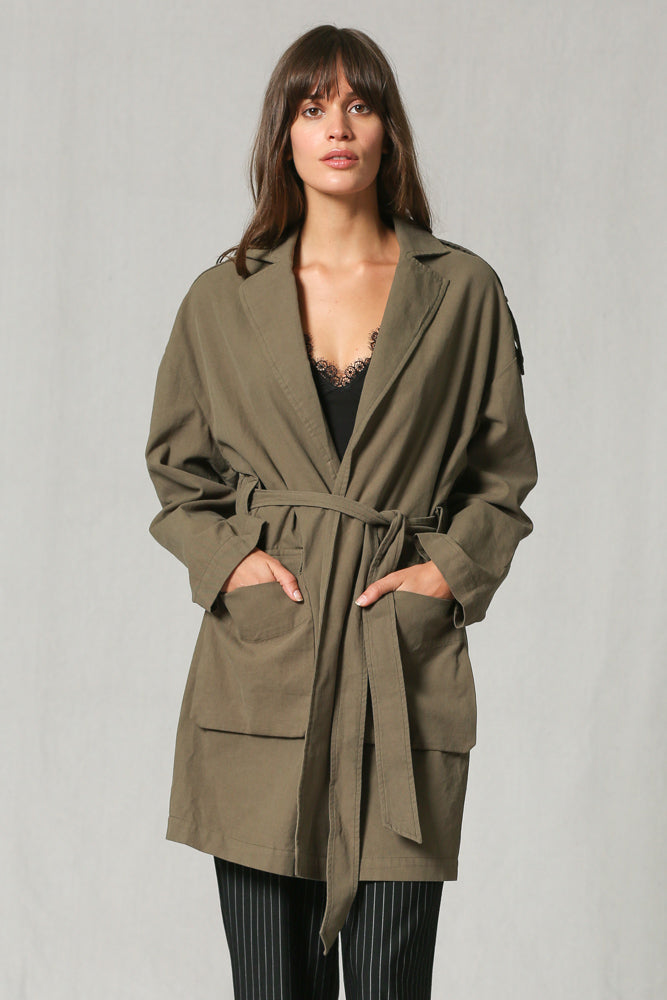 Olive Trench Coat