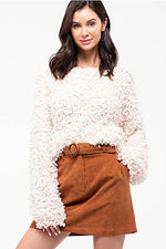 Shaggy Popcorn Knit Top