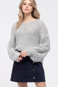 Grey Loose Fit Sweater