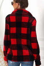 New Red Plaid Pullover--0065