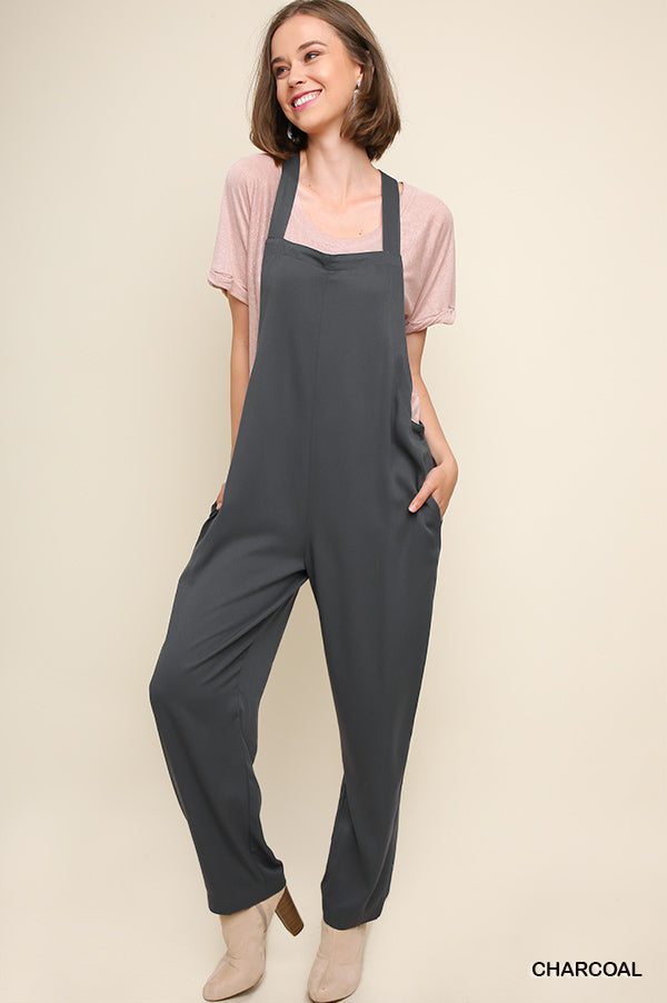 Cross back Jumpsuit/Overall—033
