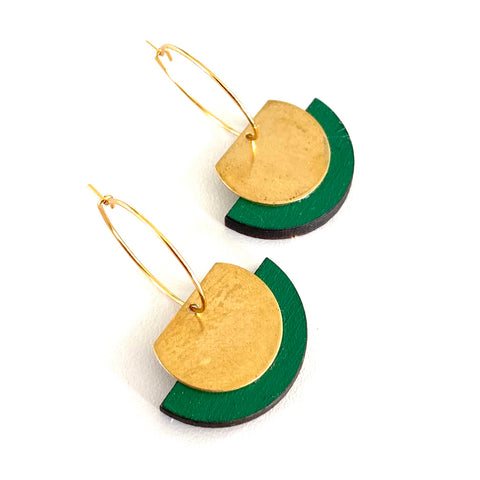 Half moon Rimu earrings - Julia Huyser Design