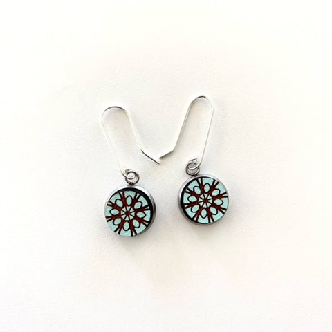 Aqua Lace Earrings - STERLING SILVER - Julia Huyser Design