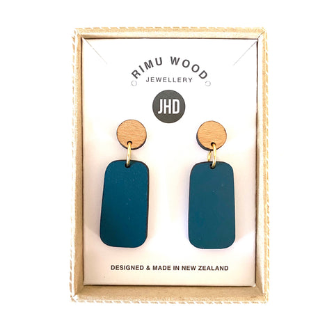 Colour pop Earrings - Navy/Rimu - Julia Huyser Design
