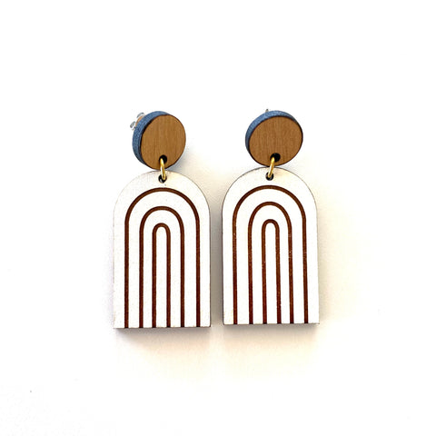 Rainbow Empire Rimu Earrings - Julia Huyser Design