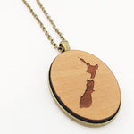 NZ Map Pendant - RIMU - Julia Huyser Design