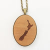 NZ Map Pendant - RIMU