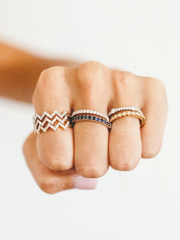 Chevron Diamond Band in 14k Rose Gold