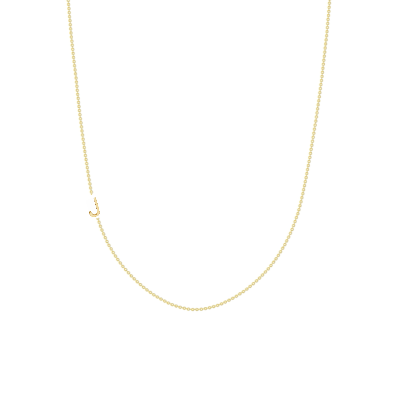 The Initial Necklace - 1 Letter 14k