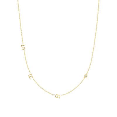 The Initial Necklace - 3 Letters 14k