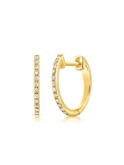 Favorite Diamond Huggies in 14k Yellow Gold