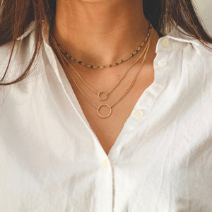 Gold Circle Layering Necklace