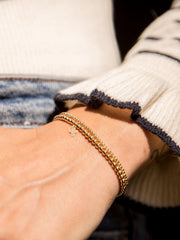 Everyday Stretch Bracelet with Cross Charm