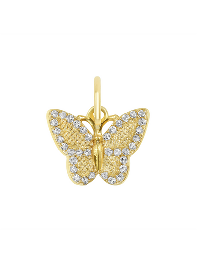 Diamond Butterfly Charm - 14k