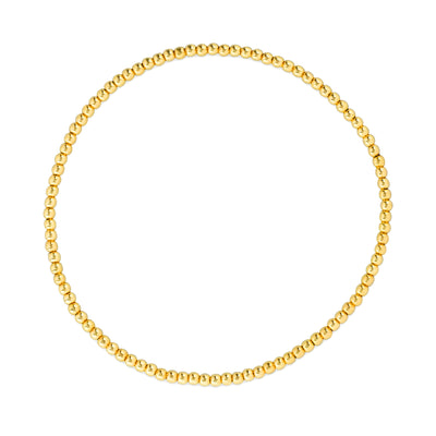 Everyday Stretch Anklet - 2mm Yellow