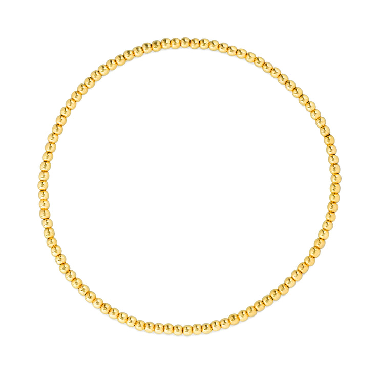 Everyday Stretch Anklet - 3mm Yellow
