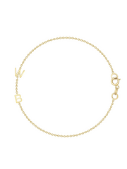 The Initial Bracelet - 2 Letters 14k Gold