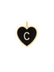 Initial Heart Charm