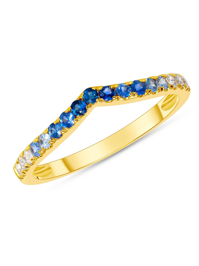 Blue Ombre Ring 14k