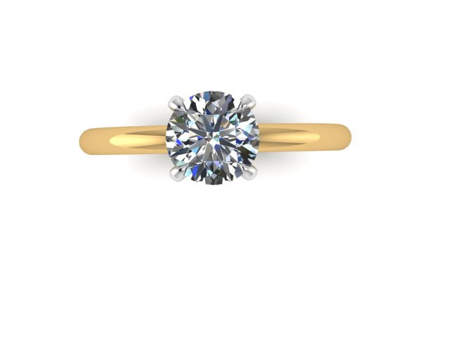 Round Four Prong  Engagement Ring