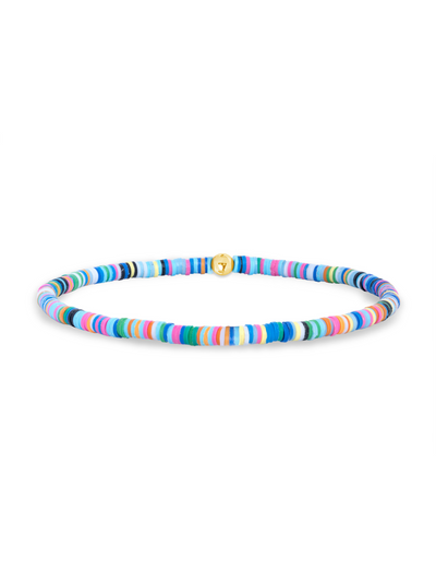 Turquoise Beaded Hoop Earrings - Large