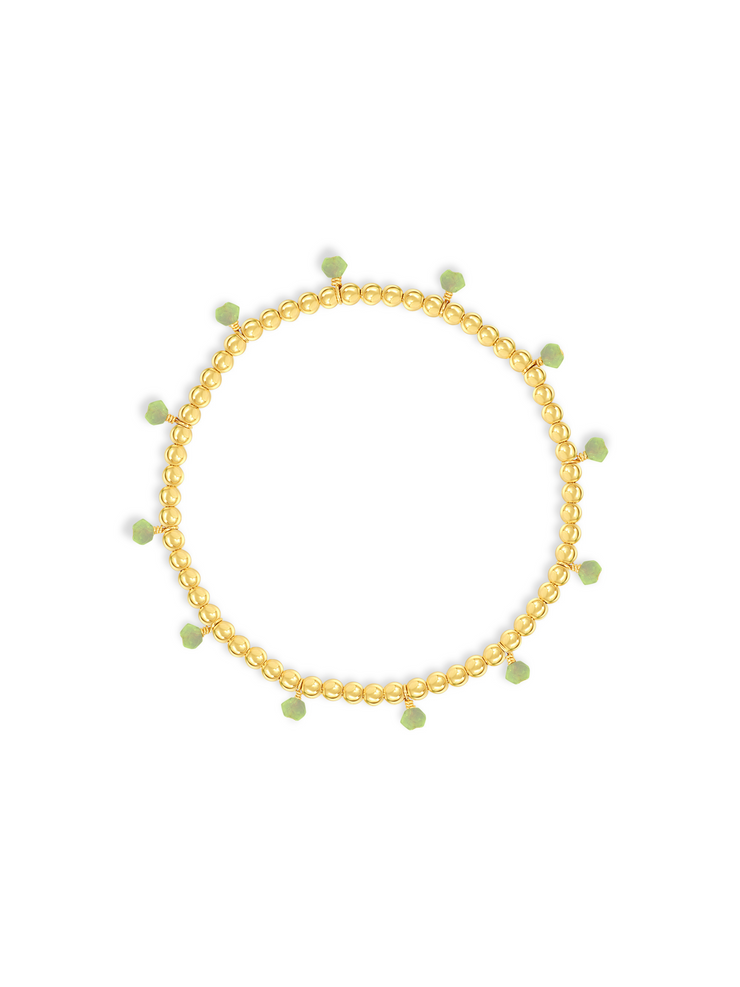 Birthstone Stretch Bracelet-August Peridot