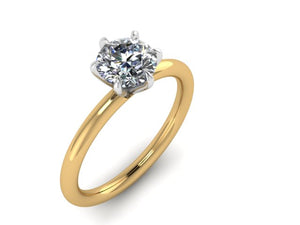 Round Six Prong  Engagement Ring