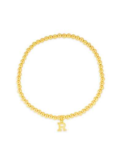 Initial Charm Everyday Stretch Bracelet