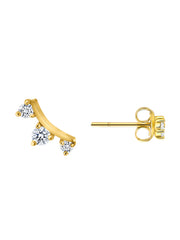 Diamond Mini Climber Stud Earrings