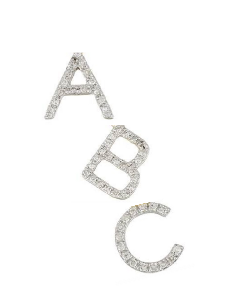 Add a Diamond Initial - Medium