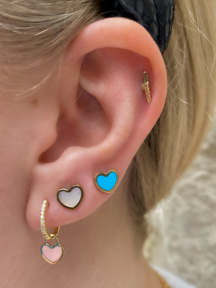 Cupid Heart Studs