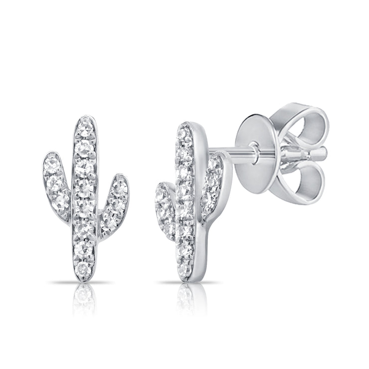 La Quinta Cactus Earrings 14k
