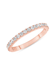 Simple Sparkle Ring 14k Rose Gold with Diamonds