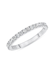 Simple Sparkle Ring 14k White Gold with Diamonds