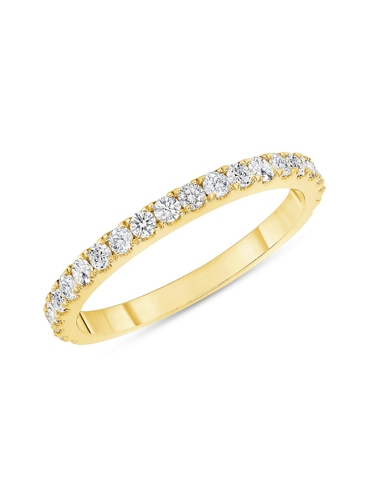 Simple Sparkle Ring 14k Yellow Gold with Diamonds