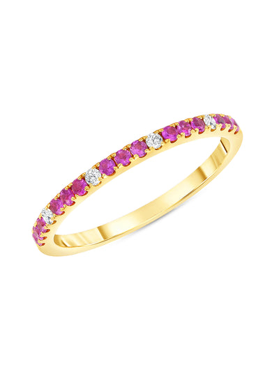 Prism Ring in Pink Sapphire 14k Yellow Gold