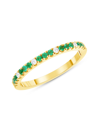 Prism Ring in Emerald - 14k
