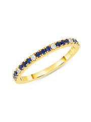 Prism Ring in Blue Sapphire 14k Yellow Gold