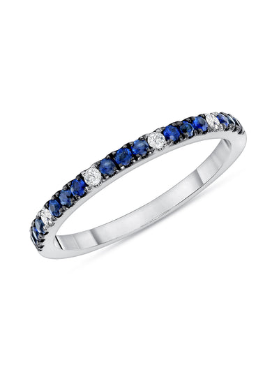 Prism Ring in Blue Sapphire 14k White Gold
