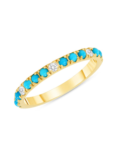 Prism Ring in Turquoise & Diamond in 14k
