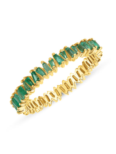 Brilliant Baguette Band in Emerald 14k Gold