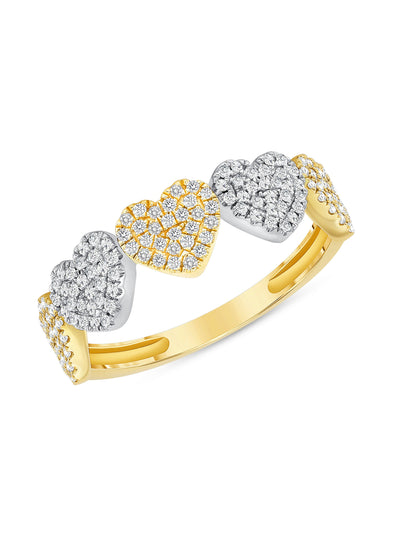 Love Pave Heart Ring