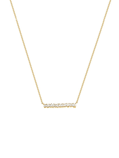 Brilliant Baguette Bar Necklace