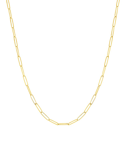 Paperclip 'S' Chain Necklace  - 14k