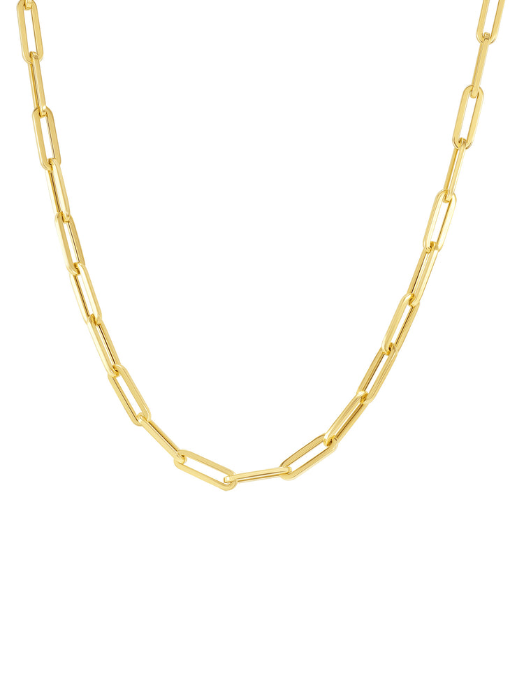 Paperclip 'S' Chain Necklace 14k