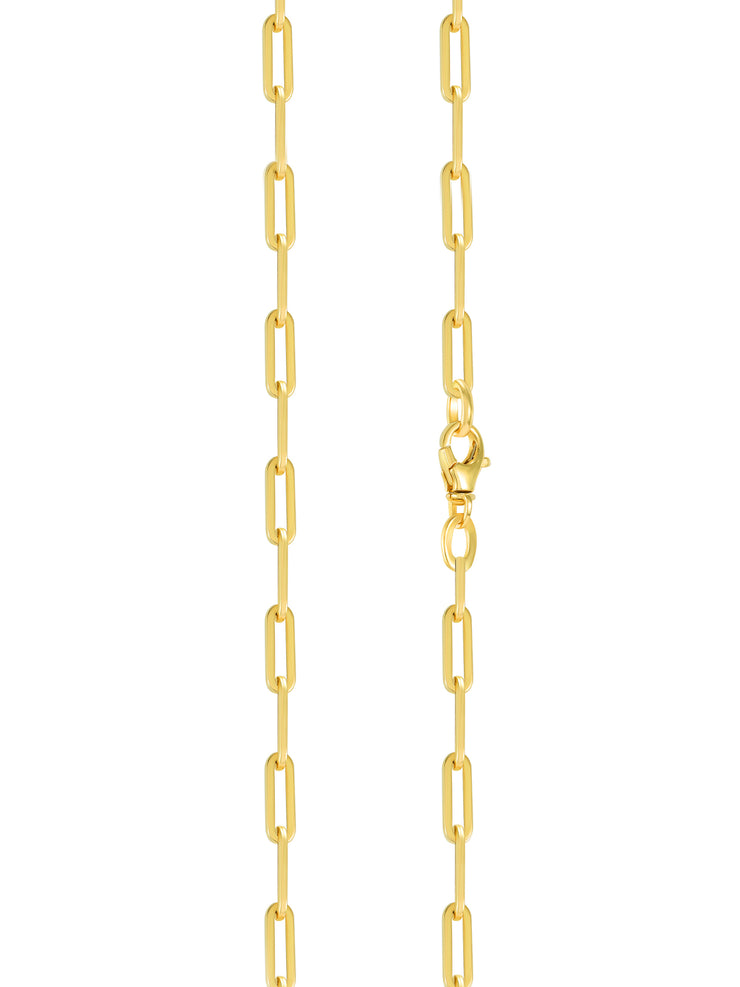 Paperclip 'S' Chain Necklace  - 14k Gold