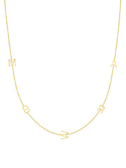 The Initial Necklace - 5 Letters 14k Gold