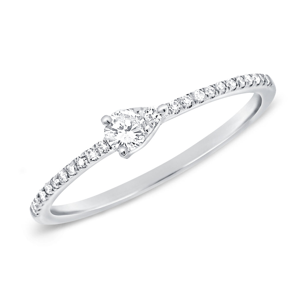 Diamond Pave Pear Band