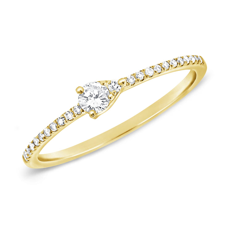 Bitsy Pave Stack Ring Pear 14k